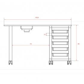 Τραπέζι Μανικιούρ Ulnar WK-M003