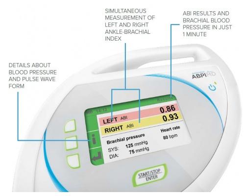 Συσκευή διάγνωσης της περιφερικής αρτηριακής νόσου (PAD) MESI ABPI MD