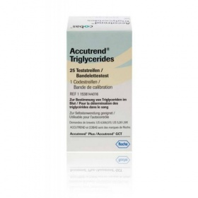 Ταινίες τριγλυκεριδίων Accutrend Triglycerides 25 Ταινίες
