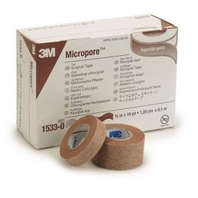 Ταινίες στερέωσης χάρτινες Micropore Καφέ Χρώματος