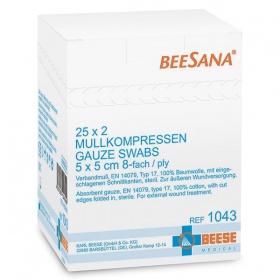 Γάζες υφασμένες αποστειρωμένες Meditrade 1043 BEESANA 5 x 5cm  25 x 2pcs