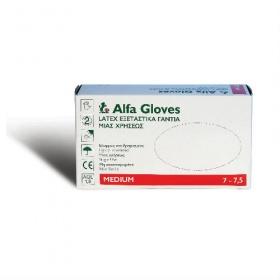 Γάντια latex με πούδρα Alfa Gloves