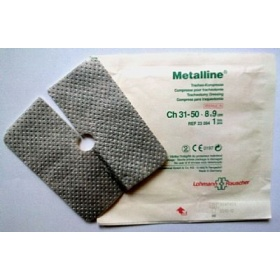 Επιθέματα   τραχειοστομίας με επικάλυψη αλουμινίου Metalline 8 x 9 cm 50τεμ