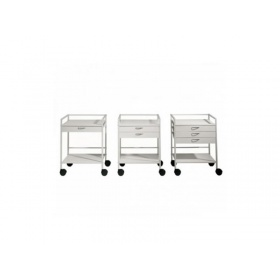 Medical trolley mensa with (2) two drawer
