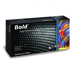 Εξεταστικά Γάντια Νιτριλίου μαύρα Χωρίς Πούδρα Aurelia® Bold™