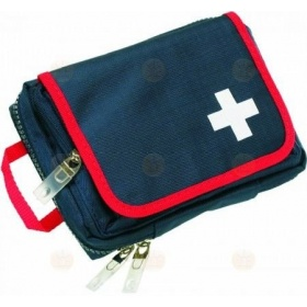 TRAVEL first aid - bandage bag blue/red