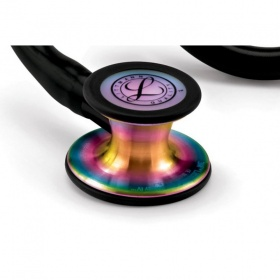 Στηθοσκόπιο 3M™ Littmann® Cardiology IV Special Edition μαύρο με κώδωνα Rainbow finish 6165