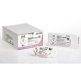 Ράμμα ταχείας απορρόφησης Vicryl rapide Ethicon 4/0 στρόγγυλη  βελόνα 22mm 70cm V2180H