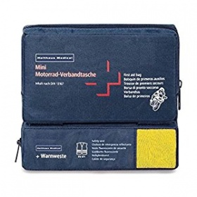 Holthaus Mini Combi First Aid Bag for Motorcycles including Warning Vest DIN 13167