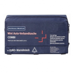 Combi first aid pouch for cars warning triangel din 13164