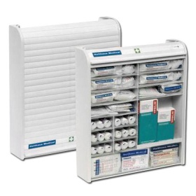Holthaus Medical Aid Cabinet Rollmed® white