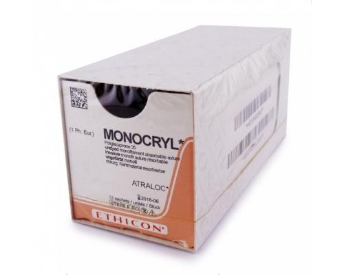 Ράμμα Ethicon Monocryl  απορροφήσιμο 6/0 13mm 45cm W3215
