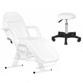 Πακέτο Αισθητικής Καρέκλα APHRODITE WHITE + Σκαμπώ ECONOMY