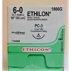 Ράμμα  Ethilon μη απορροφήσιμα 6/0 16mm 45cm W1866G