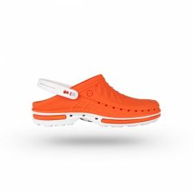 Σαμπώ Clog 05 Λευκό - Πορτοκαλί