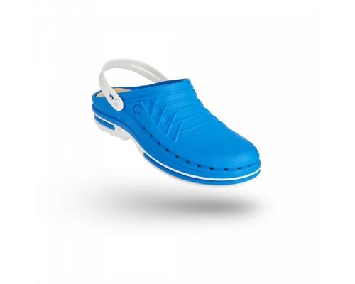 Σαμπώ Clog 07 λευκό-γαλάζιο