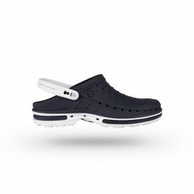 Σαμπώ Clog 03 Λευκό - Σκούρο Μπλε