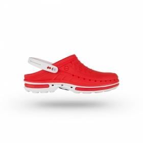 Σαμπώ Clog 12 Λευκό - Κόκκινο