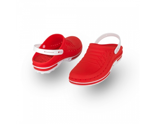 Σαμπώ Clog 12 λευκό-κόκκινο