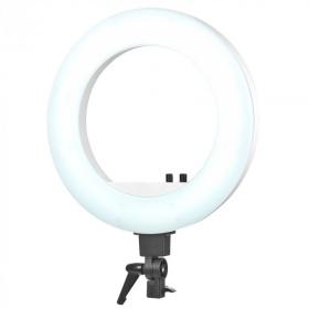 Ring Lamp Ring Light 18'' λευκό - 48W LED με μαύρο τρίποδο
