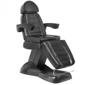 Ηλεκτρική καρέκλα-έδρα αισθητικής Lux 3 μοτέρ μαύρη