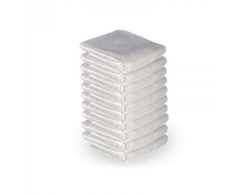 Πετσέτες αισθητικής με μικροϊνες 10τμχ λευκό