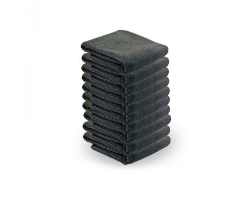 Πετσέτες αισθητικής με μικροϊνες 10τμχ μαύρο