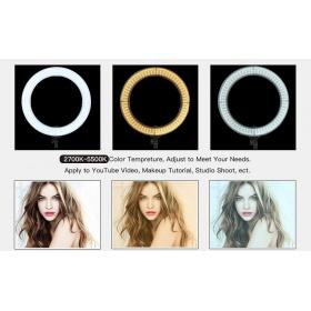 Zomei LED Ring Light  14 ιντσών ρυθμιζόμενο με Βάση στήριξης