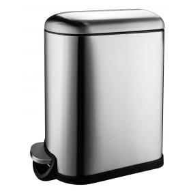 Wide-Step Rectangular Step Trash Can, Stainless Steel step inox 10lit