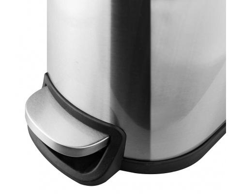 Κάδος απορριμάτων deluxe step inox  με υδραυλικό μηχανισμό 10lit