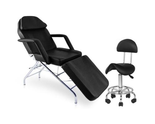 Πακέτο Αισθητικής Καρέκλα Αισθητικής KRAZ + Σκαμπώ BEAUTY μαύρο
