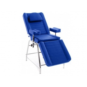 Three-section armchair for blood extractions with sidearms