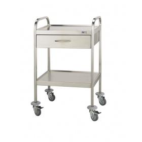 Τραπεζίδιο τροχήλατο νοσηλείας ΙΝΟΧ D-30