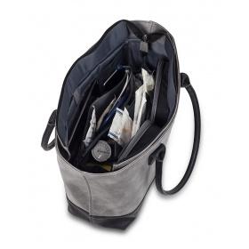 Τσάντα Ιατρική Γυναικεία με εσωτερικές θήκες TOTE'S EB00.020 κάμελ-μαύρο