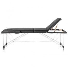 Folding aluminium massage table SUPERIOR black