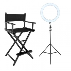 Promo Pack Professional Make Up Chair ATHINA & Ring Lamp Zomei 18''