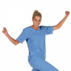 Μπλούζα ιατρική Unisex Nerea γαλάζια