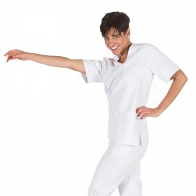 Μπλούζα ιατρική Unisex Nerea λευκή