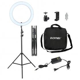 Zomei LED Ring Light 18 ιντσών ρυθμιζόμενο με Βάση στήριξης