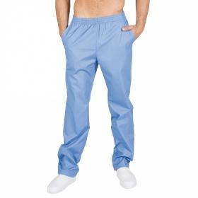 Παντελόνι Unisex με τσέπες και λάστιχο γαλάζιο 773G