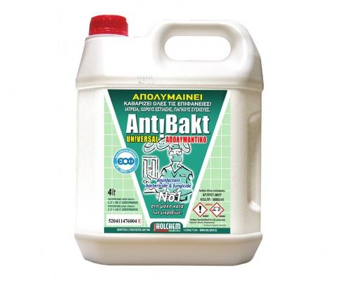 Antibakt Universal Χωρίς Άρωμα απολυμαντικό - καθαριστικό επιφανειών 4lt