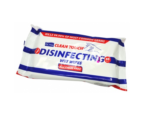 Ultra clean touch disinfecting wet wipes 48pcs