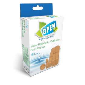 Water Resistant Plasters Open Care 5 sizes 40pcs