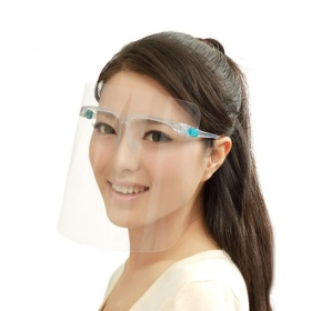 Visor face protection shield with glasses transparent frame SPECTRA