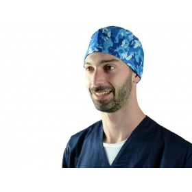 Fabric Surgical Caps Military blue 20816 M