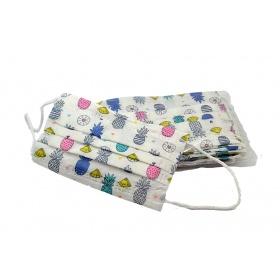 Μάσκες προστασίας παιδικές με λάστιχο για παιδιά 6-9 ετών 10 τμχ ανανάδες
