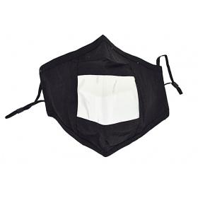 Μάσκα προστασίας υφασμάτινη ανεμπόδιστης επικοινωνίας μαύρη