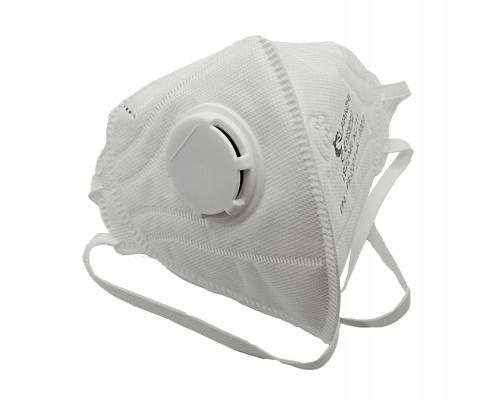 Μάσκα Προσώπου FFP2 NR Υψηλής Προστασίας με βαλβίδα εκπνοής 1τμχ