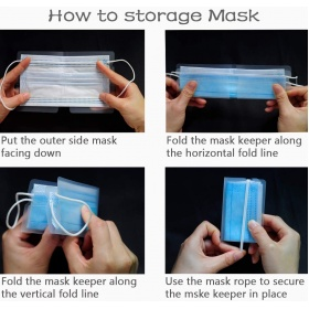 Θήκη μεταφοράς και αποθήκευσης μάσκας MASK HOLDER σετ 10 τεμαχίων