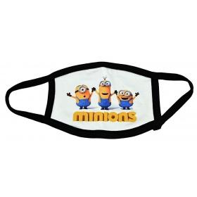 Μάσκα παιδική βαμβακερή πολλαπλών χρήσεων MINIONS
